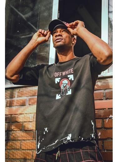 XHAN Siyah Baskılı Sweatshirt 1Kxe1-44620-02 Siyah